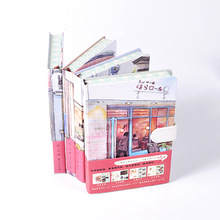 New Stationery Travel Hand books Hardcover Color Pages Notebook A5 Diary Planner Journal Graffiti Notepad School Office Supplies