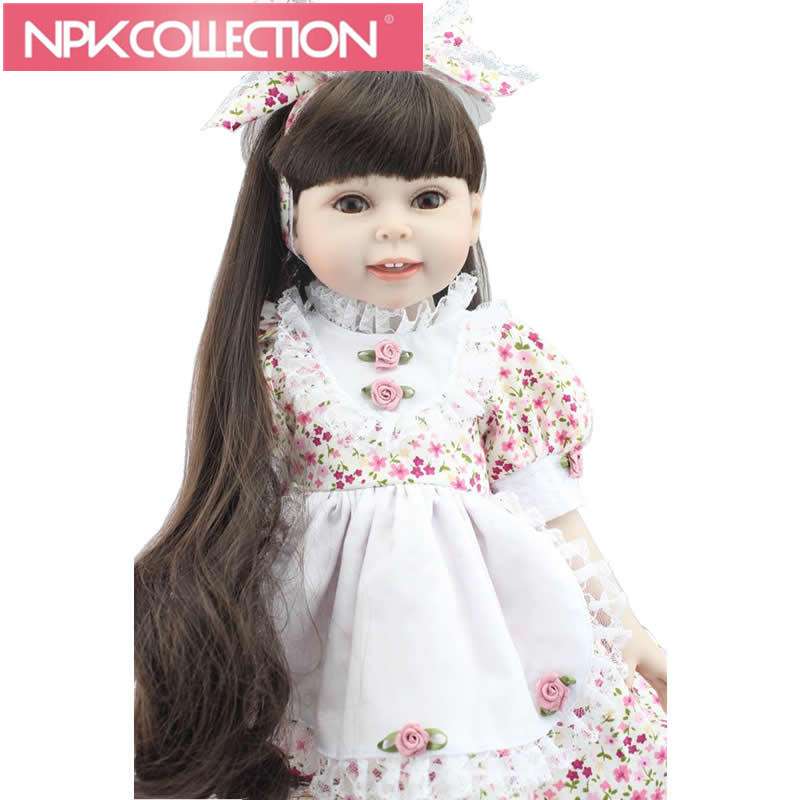 18 Inch American full vinyl Girl Dolls Cheap Girl Toys Realistic American Doll Toy Lifesize Doll Baby Alive Lifelike D80 N252 18 inch american girl doll long hair pink dress vinyl real girl bonecas baby alive dolls for girls christmas gift