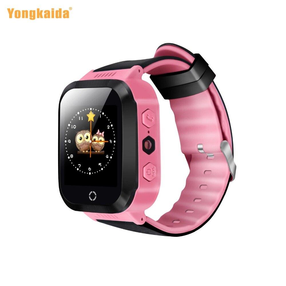 Бесплатная доставка Y21 Смарт-часы малыш GPS Системы 2 г WI-FI циферблат вызова SmartWatch мобильного телефона Водонепроницаемый браслет подарок на д…