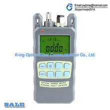 KING-86 Fiber optical power meter -70 to +10dBm and 1mw 5km Fiber Optic Cable Tester Visual Fault Locator