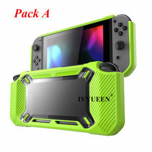 Image 2 - IVYUEEN for Nintend Switch NS NX Console Heavy Duty Slim Rubberized Hard Case Shell with Thumb Grip Tempered Glass Screen Film