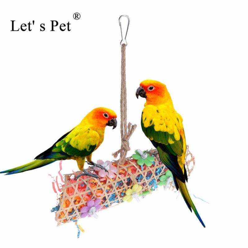 Давайте попугая игрушка 24*24*6 см трава птицу попугай клетке игрушка нагула Игрушечные лошадки, укусов для Попугай Cockatiel Клетки Играть Игрушк...