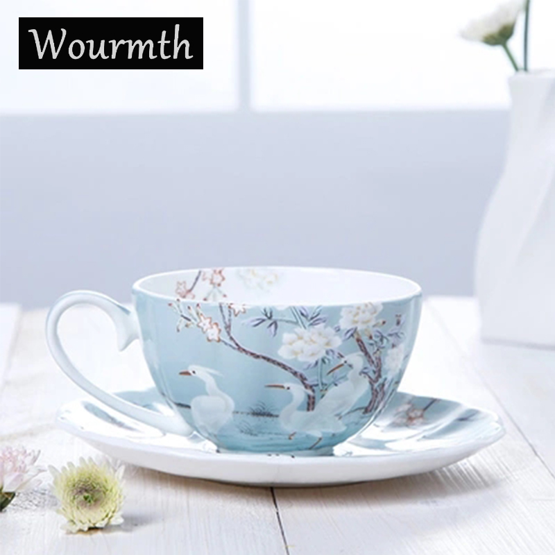 Wourmth British Style Classic Coffee Cup Set Luxury Gift Ceramic Tea Cups And coffee cups serveware