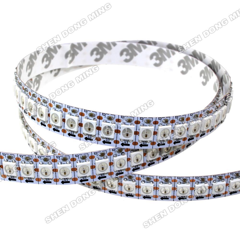 1 m/lot livraison gratuite lumière bande de pixel LED rgb WS2812 IC 5 V 5050 SMD 144led lumière Flexible pas étanche décoration de la maison - 4