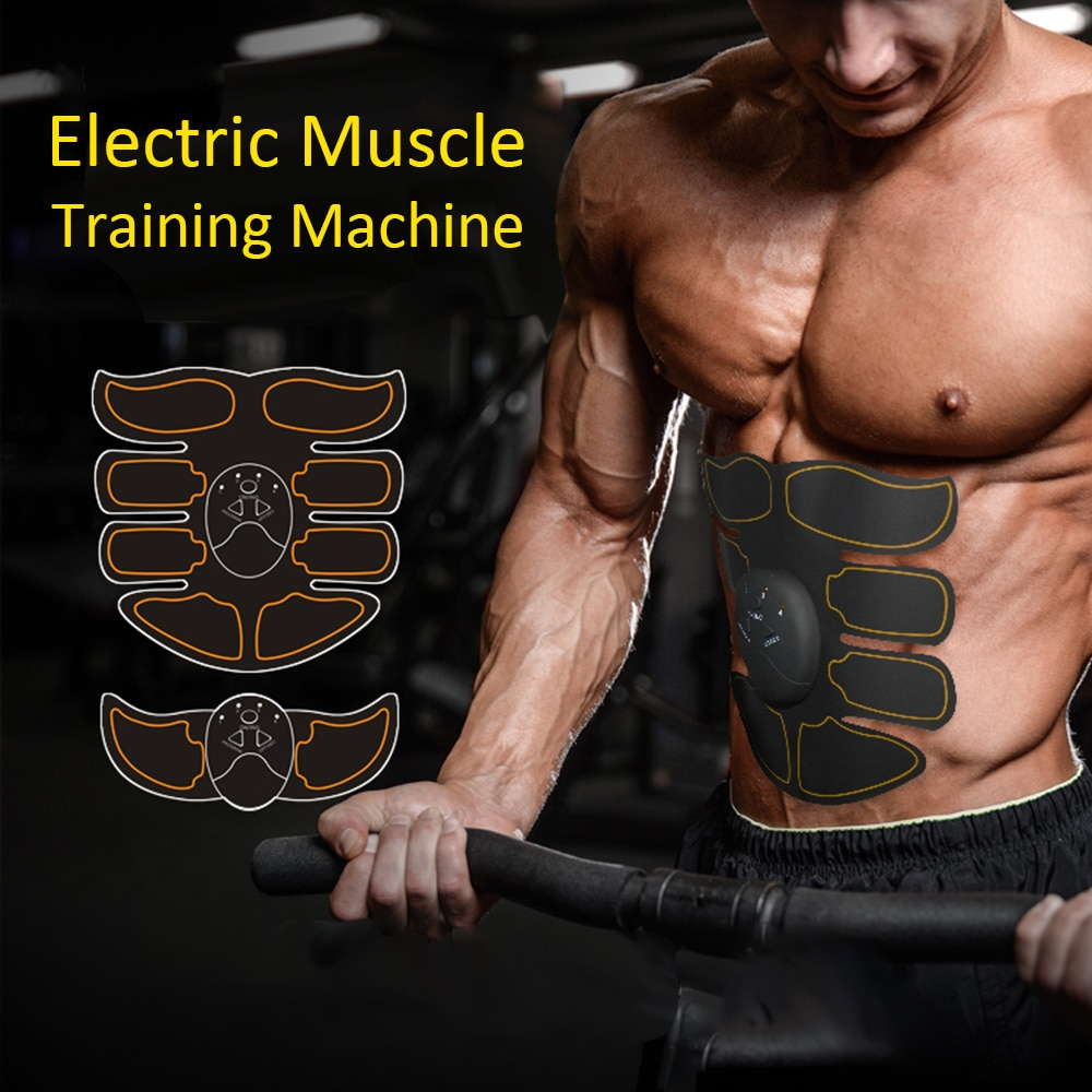 Fitness Abdominal Muscle Trainer EMS Passive Gymnastics Exerciser Device Body Slimming Fat Burning