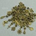 Nuevo 50 unids mixta encantos al por mayor de bronce antiguo del grano grande del agujero joyería que hace colgantes del encanto adapta a las pulseras Europeas 3122