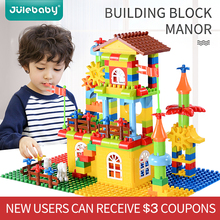 design building blocks toys construction set for children boys kids Compatible with Duplo brick educational palace model цена в Москве и Питере