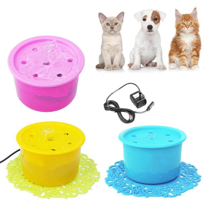 Gutherzig Kunststoff Sauerstoff Aktivierung Wasser Schalen Automatische Rund Katze Hund Wasser Brunnen Elektrische Pet Trinkwasser Dispenser Geräte Eine VollstäNdige Palette Von Spezifikationen