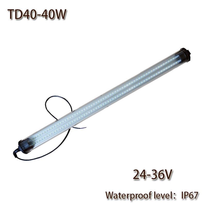 HNTD 40W 24V DC 36V Led Waterproof Work Light TD40 High brightness lighting IP67 Explosion-proof 1480mm Long Hot sale