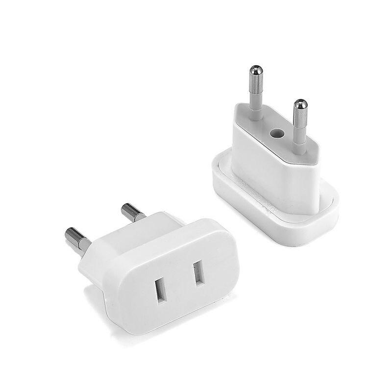 US To EU Euro Europe Plug Plug Converter 2 Round Plug AC Converter Travel Adapter American US To EU Electrical Socket