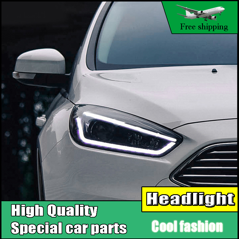 Head Lamp Case For Ford Focus Mk3 2017 Headlights Led Headlight Drl Lens Double Beam Bi Xenon Hid Dynamic Turn Signal Light In Car Embly From