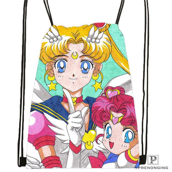 Custom chibi chibi moon Drawstring Backpack Bag Cute Daypack Kids Satchel Black Back 31x40cm 2018612 01