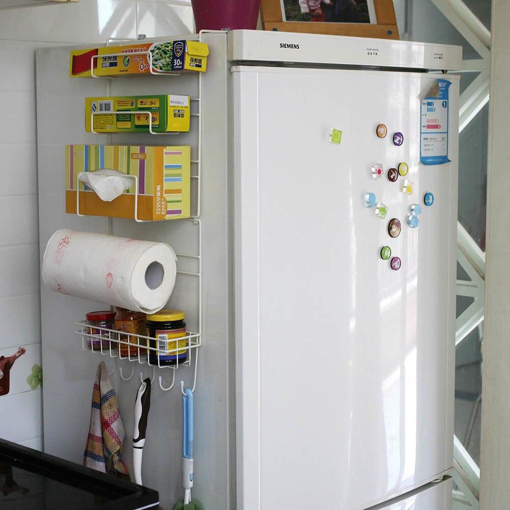 Refrigerador estante lateral estante multiusos especias espacio ...