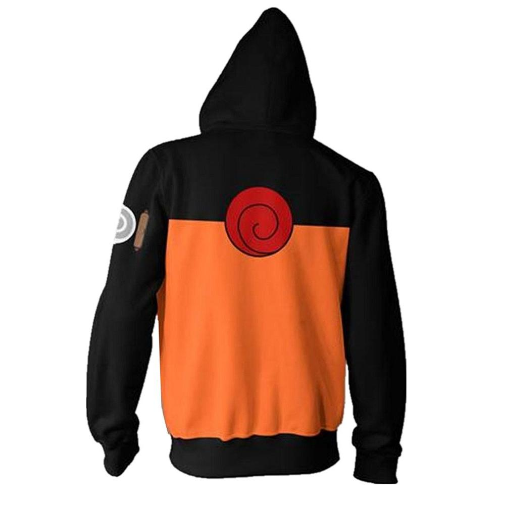 2019 Fashion Unsiex Sweatshirt Hoodies Men Women Printed Anime Naruto Akatsuki Hoodie Cosplay Streetwear Tracksuit Zipper Hoody