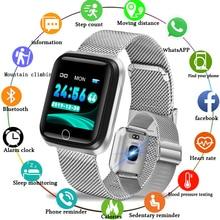 Sport Smart Bracelet Men high-end stainless steel gold-plated case Pedometer Heart rate Monitor LIGE Waterproof Smartwatch N58