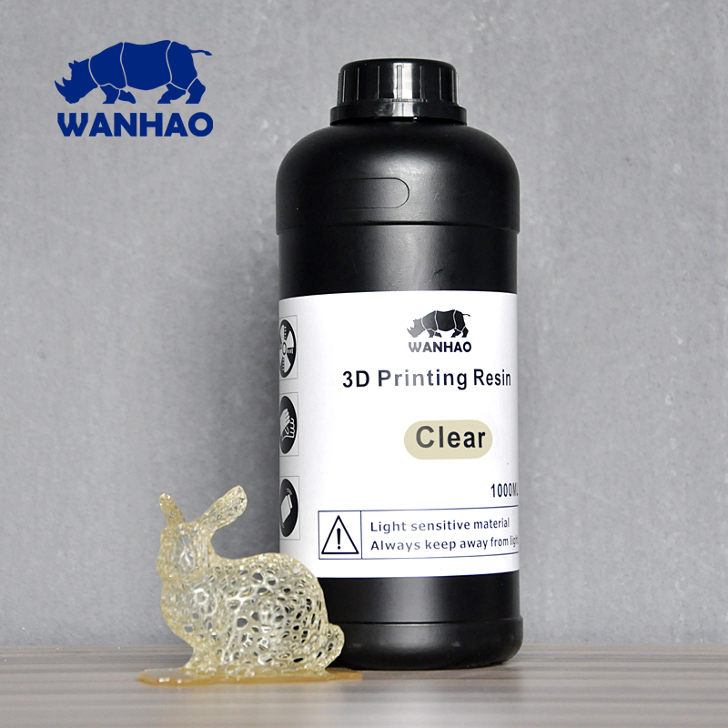 Clear - UV 405nm photopolymer resin for LCD/SLA 3d printer Wanhao Duplicator 7 (D7) - 1000 ml green uv 405nm photopolymer resin 1000 ml for wanhao duplicator 7 d7 lcd sla 3d printer