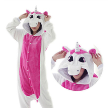 Pink Unicorn Pajamas Sets Flannel Cute Cartoon Animal sets Winter Super Soft Nightie Stitch Pyjamas Sleepwear