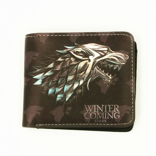 hot movie harry potter game of throne spiderman man wallet card holder with cion zipper pocket Kids Wallets