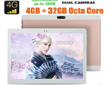 10 pulgadas Octa Core 4G Tablet PC Phone Call 4 GB RAM 64 GB ROM 1920*1200 IPS GPS Tabletas 10 10.1 Envío Libre de DHL