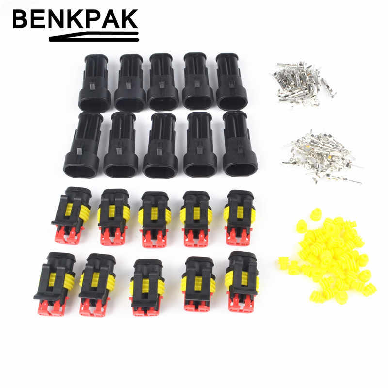 2Pin Car Truck SUV Wire Connector Plug Terminal Sealed Waterproof Electrical Kit
