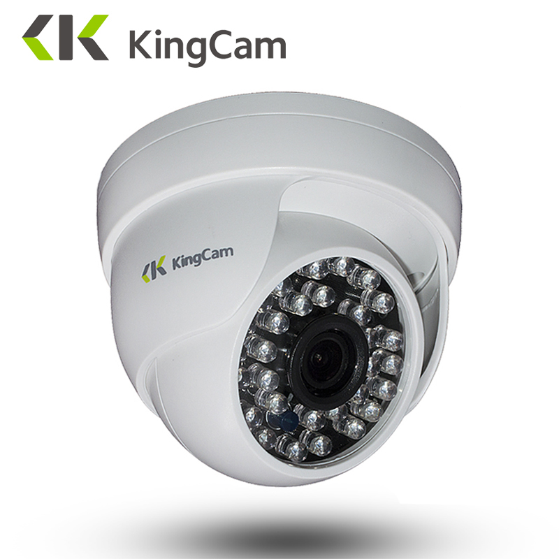 KingCam Wide Angle IP Camera Indoor Dome Camera Security 1080P FULL HD IP Camera IR Cut Filter 30 IR LED ONVIF Motion Detect RTS kingcam wide angle ip camera indoor dome camera security 1080p full hd ip camera ir cut filter 30 ir led onvif motion detect rts