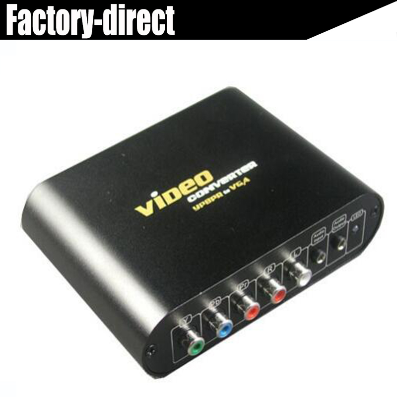 High quality VGA/Ypbpr component to vga converter for PS2/PS3/Wii,DVD player with power adapter(AU,UK,EU,US available)