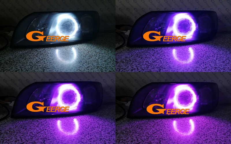 For Volvo S40 V50 2004 2005 2006 2007 headlight RF Bluetooth Controller  Multi-Color Ultra bright RGB LED Angel Eyes kit