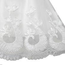 Flower Girls Dress Lace Hem Long Sleeve