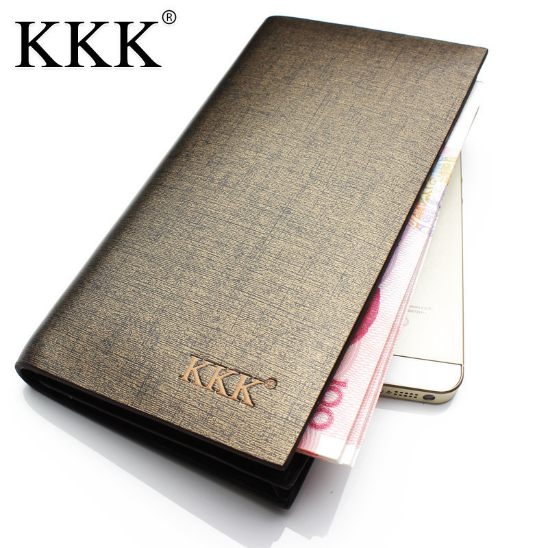 2018 New leather men wallets Luxury Famous Brand Second layer Cowhide clutch bag Fashion long men's wallet Gent Leather purses