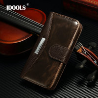 S4Mini Fashion Business Luxury Classic Flip Case For Samsung Galaxy S4 Mini I9190 With Metal Cover