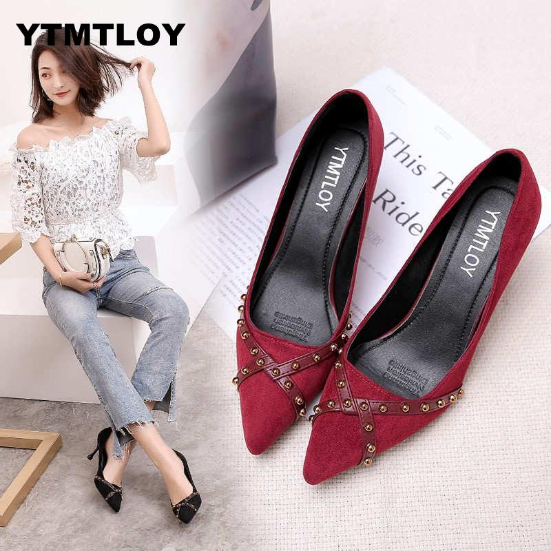 YTMTLOY New Women Pumps Summer Fashion Sexy Rivets Pointed Toe Wedding Party High Heeled Shoes Woman Sandals Zapatos Mujer YTMTLOY New Women Pumps Summer Fashion Sexy Rivets Pointed Toe Wedding Party High Heeled Shoes Woman Sandals Zapatos Mujer