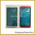Оригинальная Передняя Рамка Ближний ЖК Рамка Аргументы За Крышки HTC One M7 Запчасти. красный Черный Серебристо-Голубой Цвет