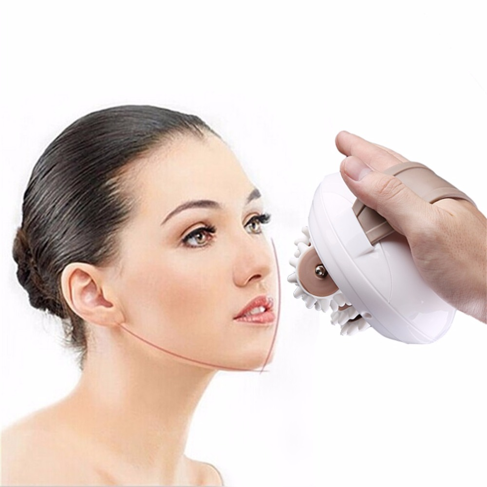 Professional 3D Mini Facial Face Kneading Massage Roller Electric Anti-Cellulite Control System Massager Body Slimmer EU Plug jade stone facial massage roller anti wrinkle anti cellulite face lift skin care head foot body massager nature beauty tool 30