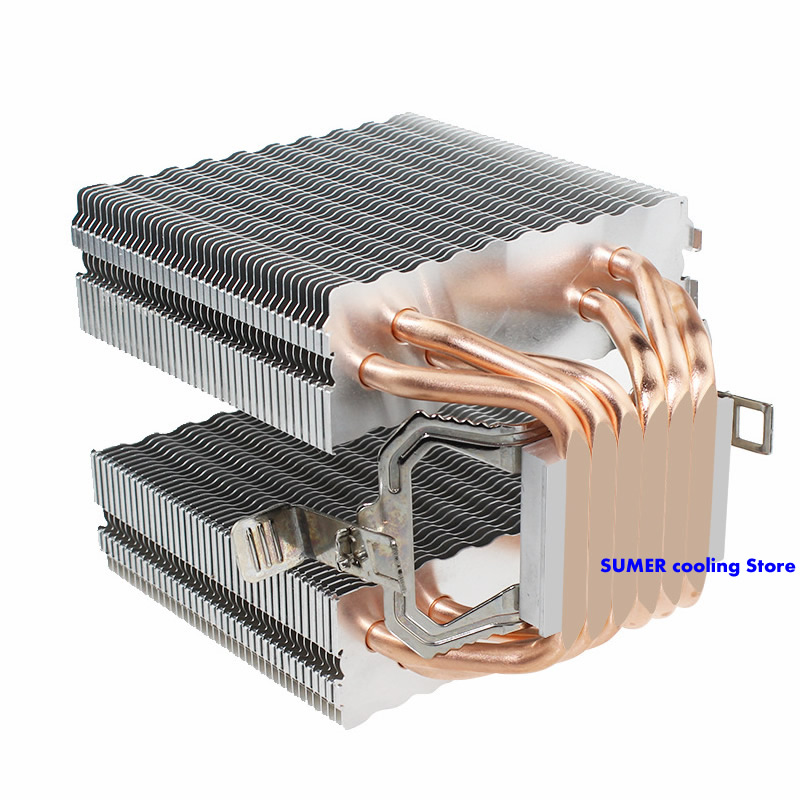Image 2 - High quality 4PIN CPU cooler 115X 1366 2011,6 heatpipe dual tower cooling 9cm fan,support Intel  AMD-in Fans & Cooling from Computer & Office
