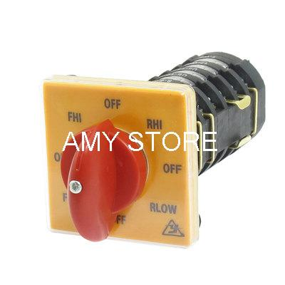AC 500V 25A Self Locking Lock 8 Position Cam Combination Changeover Switch
