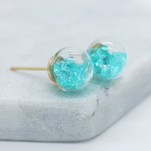 new design fashion brand jewelry Crushed zircon in a variety of cndy colors 10mm glass beads stud earrings for girls.(China)