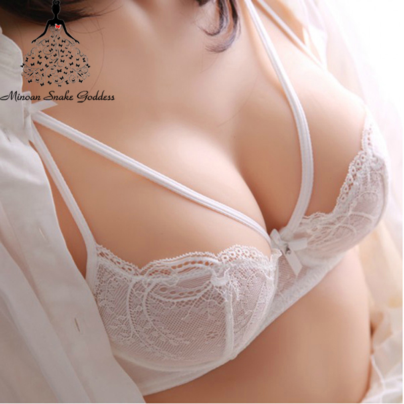 Transparent   Bra     Set   Lingerie   Set   Lace Underwear Women Ultra-thin Sexy   Bra   And Panties   Set   Push Up White Black Young Girl A B Cup