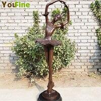 Hot Designs bronze Ballet girl sculpture Art Decoration Sculpture Bronze Ballet girl Statue