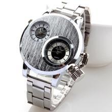 1 pc hommes mâle étudiant Montres cadeau Horloge Alliage bracelet de quartz D'affaires montre de sport en acier inoxydable rond analogique mode H5