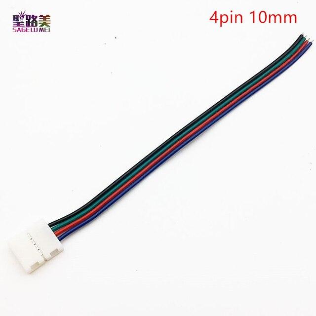 100 stücke 4pin 10mm breite Anschluss für SMD 5050 RGB farbe LED ...