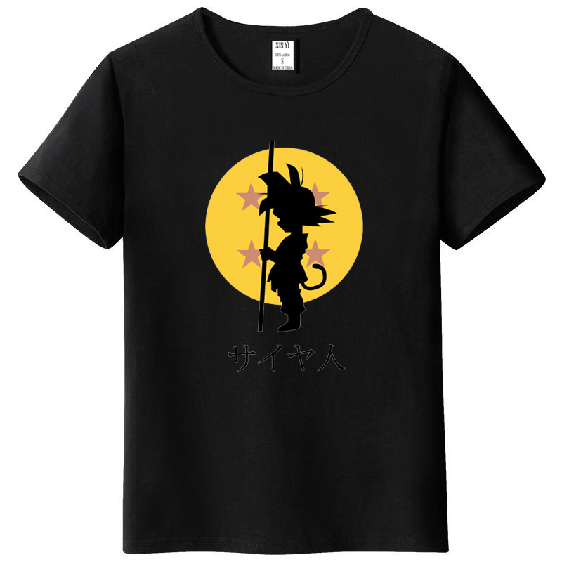 New Fashion 2018 100% cotton The Dragon Ball print funny men   T     Shirt   To Beat Goku-Krillin casual o-neck mens Tshirt