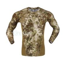 tactical camouflage Python tight speed dry clothing underwear elastic tactical wicking long sleeved t-shirts
