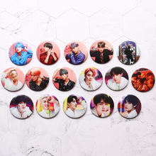 Year-End Clearances Kpop Bangtan Boys Pin Album Brooch Badge Accessories For Clothes Hat Backpack Decoration(China)