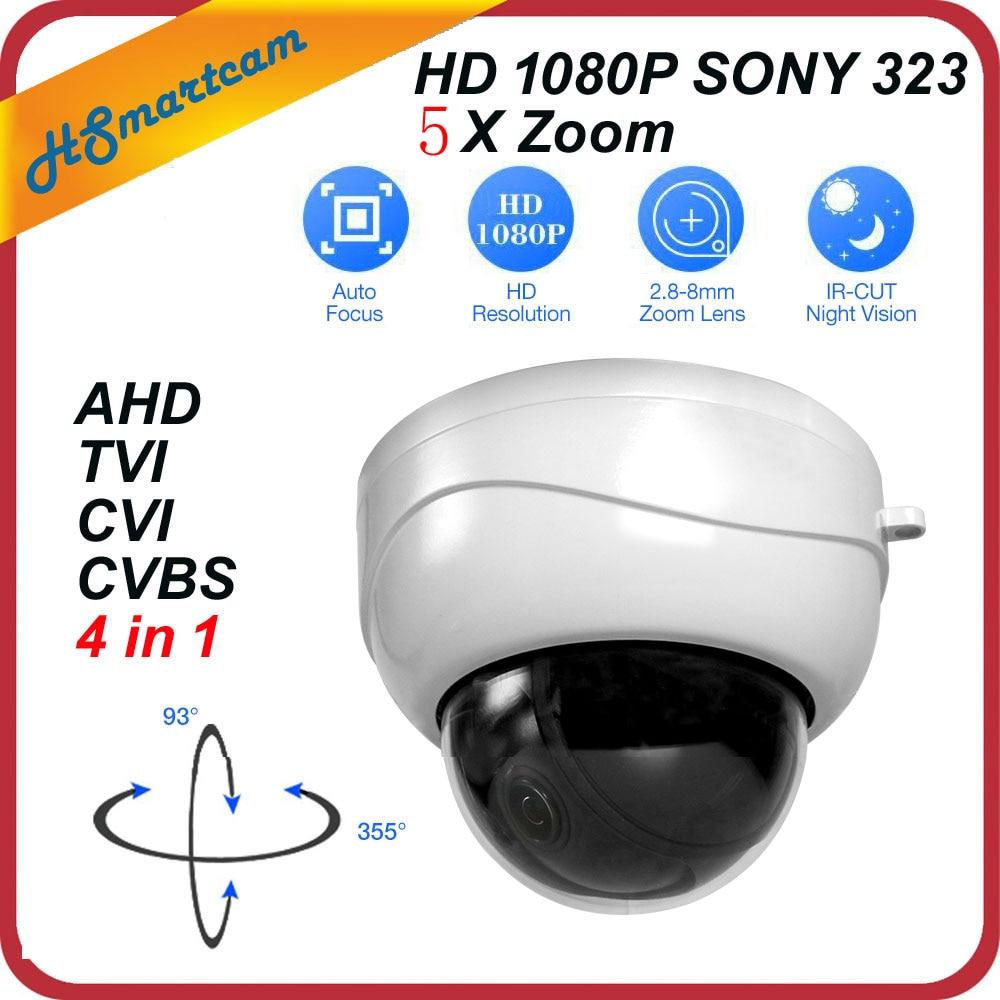 New mini AHD Ptz Cameras With Full HD P2P Motorized 5X Zoom Lens 4 IN 1 Camera 2MP 1080P AHD TVI CVI PTZ Camera For HD DVR Ktis