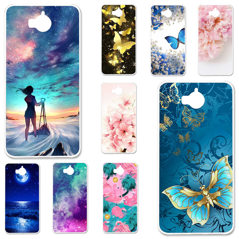 Soft TPU Phone Cover For <font><b>Huawei</b></font> <font><b>Y6</b></font> <font><b>2017</b></font> Silicone Case For <font><b>Huawei</b></font> Y5 <font><b>2017</b></font> MYA-L22 MYA-L03 MYA-L23 MYA-L02 Cases Bumper image