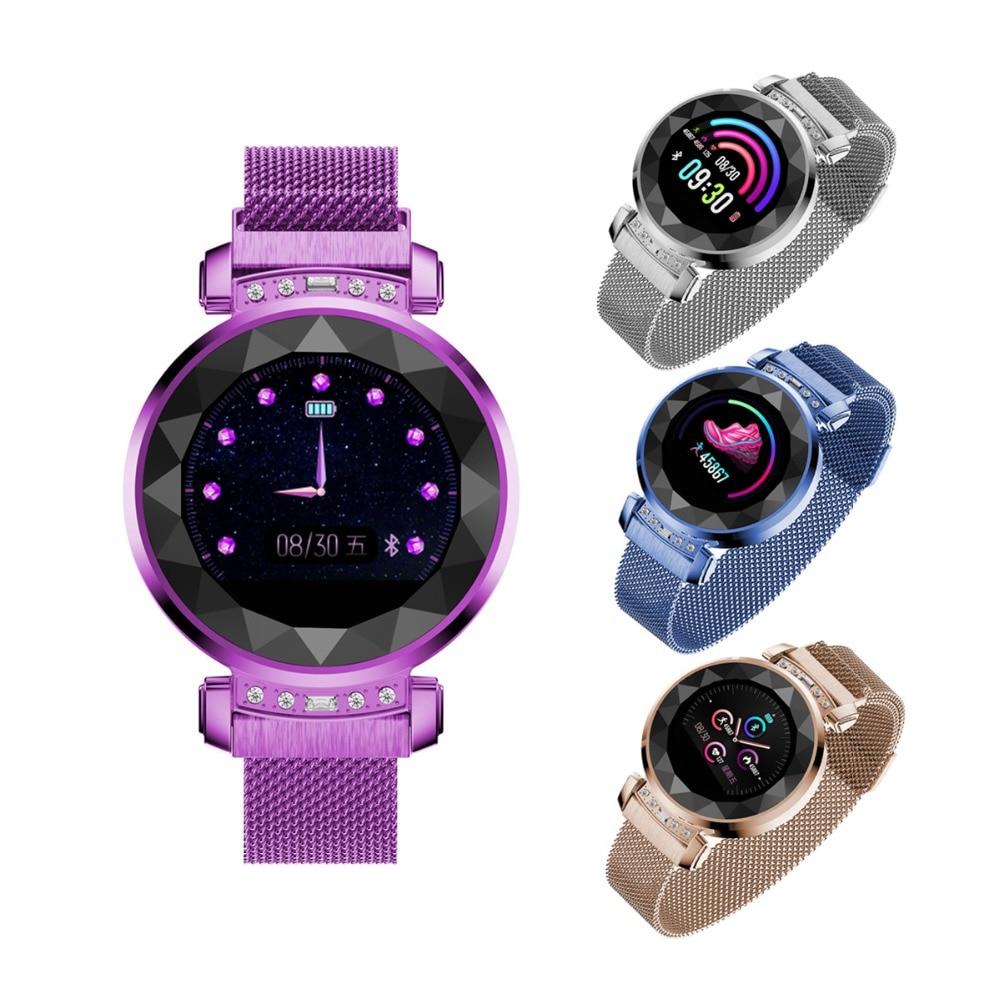 Date H2 plus femmes montre intelligente Android Bluetooth Fitness Tracker fréquence cardiaque pression artérielle moniteur de sommeil Sport Smartwatch