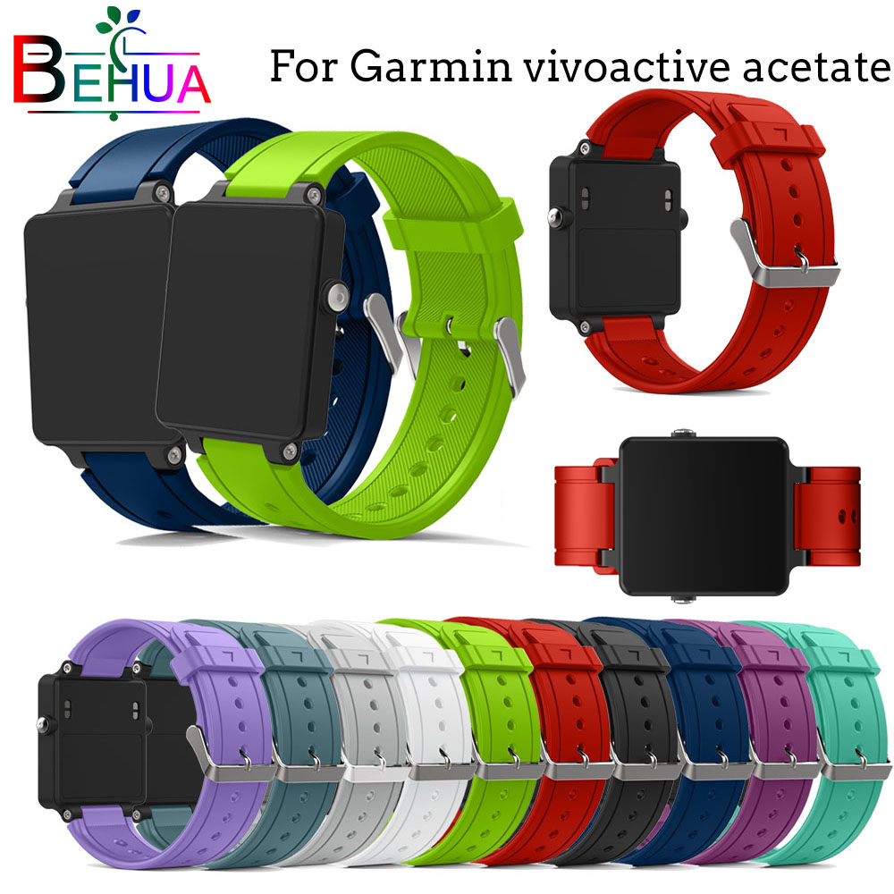 For Garmin vivoactive acetate watch band Silicone Replacement New sport smart wristband strap for straps