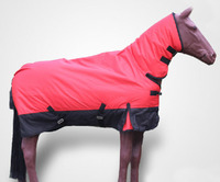 Newest Outdoor Horse Racing Clothes Winter Rain Proof Warm Horse Rugs Wind Proof Red Removable Horse