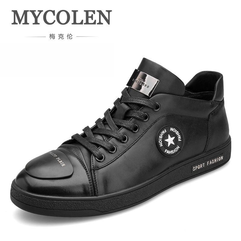 MYCOLEN Sport Men Shoes Genuine Leather Casual Shoes Man Autumn And Winter Non Slip Waterproof Shoes Scarpe Uomo Casual женские кеды golden goose shoes 2015 ggdb uomo scarpe scollate