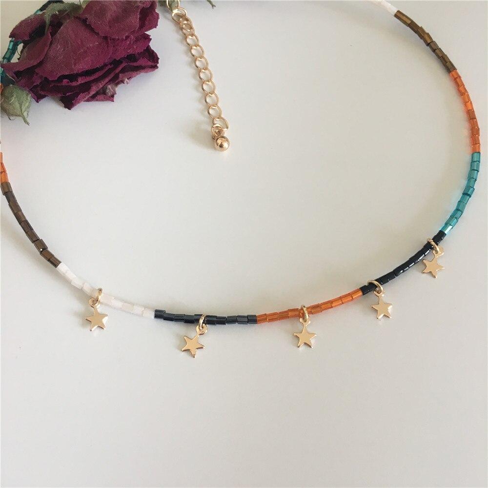 שרשרת חרוזים צבעונית עם כוכבים 2
